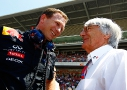 Bernie Ecclestone junto a Christian Horner, director general Red Bull Racing.