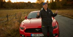 Lennart Ribring con su Ford Mustang GT